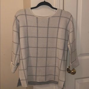 Window pane sweater